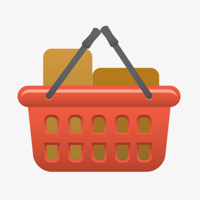 Red Basket Model, Red, Model, Basket PNG Transparent Image.