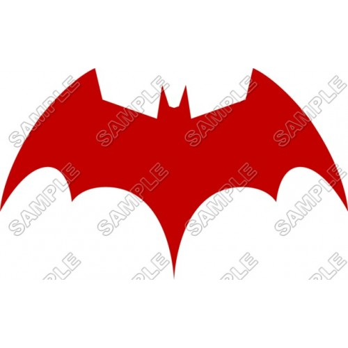 Batman Logo Red T Shirt Iron on Transfer Decal ~#16 (Batman) by  www.topironons.com.