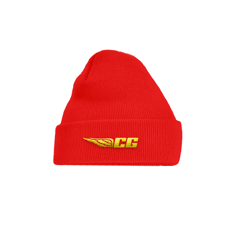 CG WING RED BEANIE.