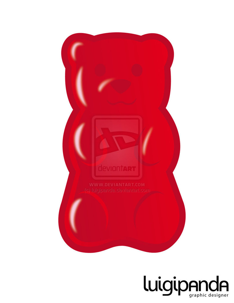 Red Gummy Bear Clip Art.
