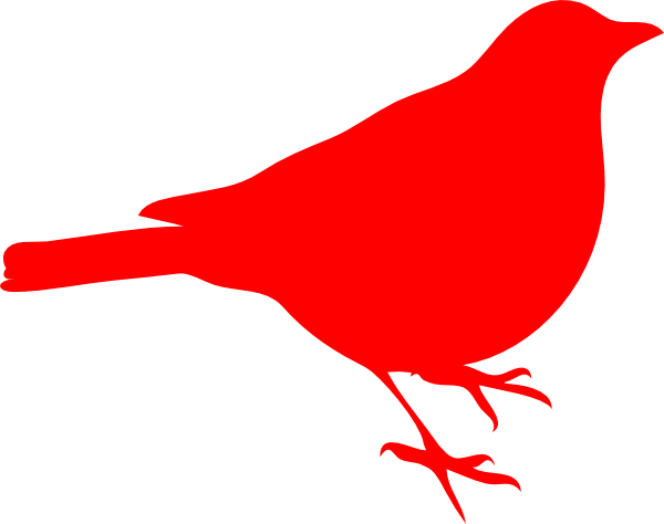 Red bird clip art.