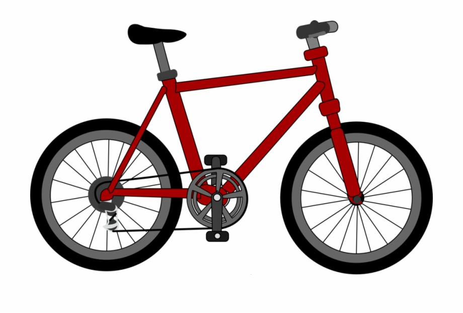 Image Public Domain Clip Art Image Red Bicycle.