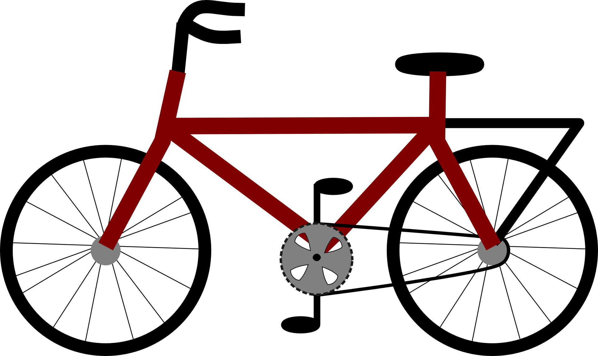 Red bicycle clipart free image.