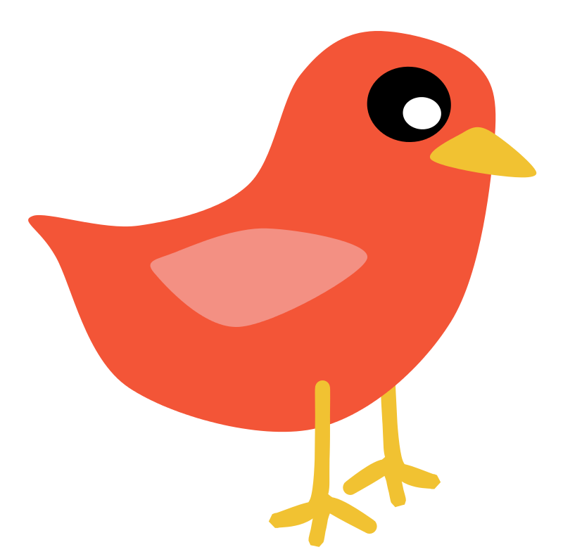 Free Clipart: Red Bird.