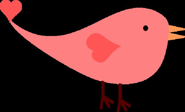 Cute red bird clipart.