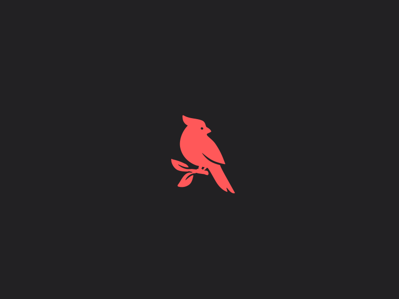 Red cardinal bird logo.