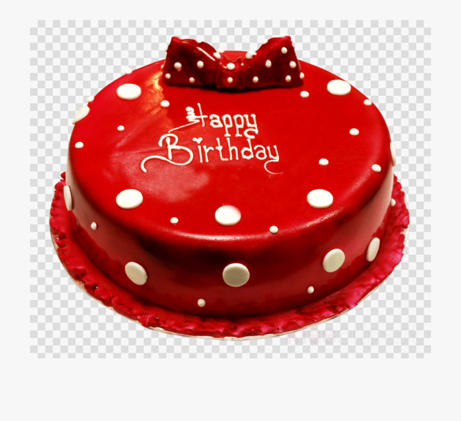 Birthday Cake Clipart Red.