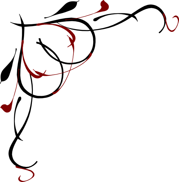 Red Black Scroll Clipart Free.