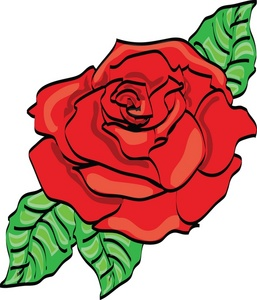 Red Rose Clipart Image.