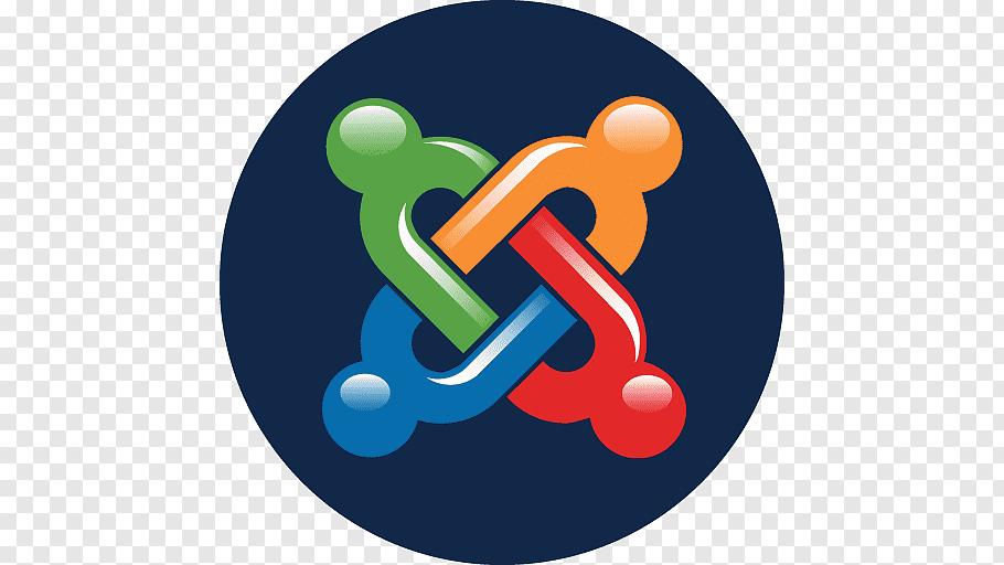 Orange, red, blue, and green chain illustration, symbol logo.