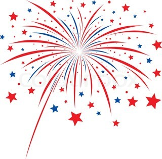 red white and blue firework clipart #20