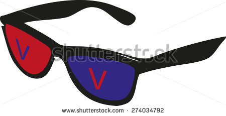 Red Blue Glasses Stock Vector 274034792.