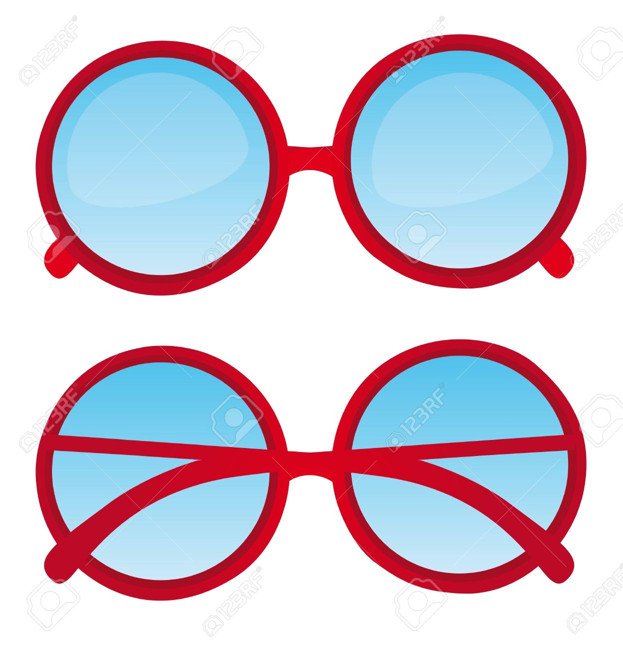 Red nerd glasses clipart.