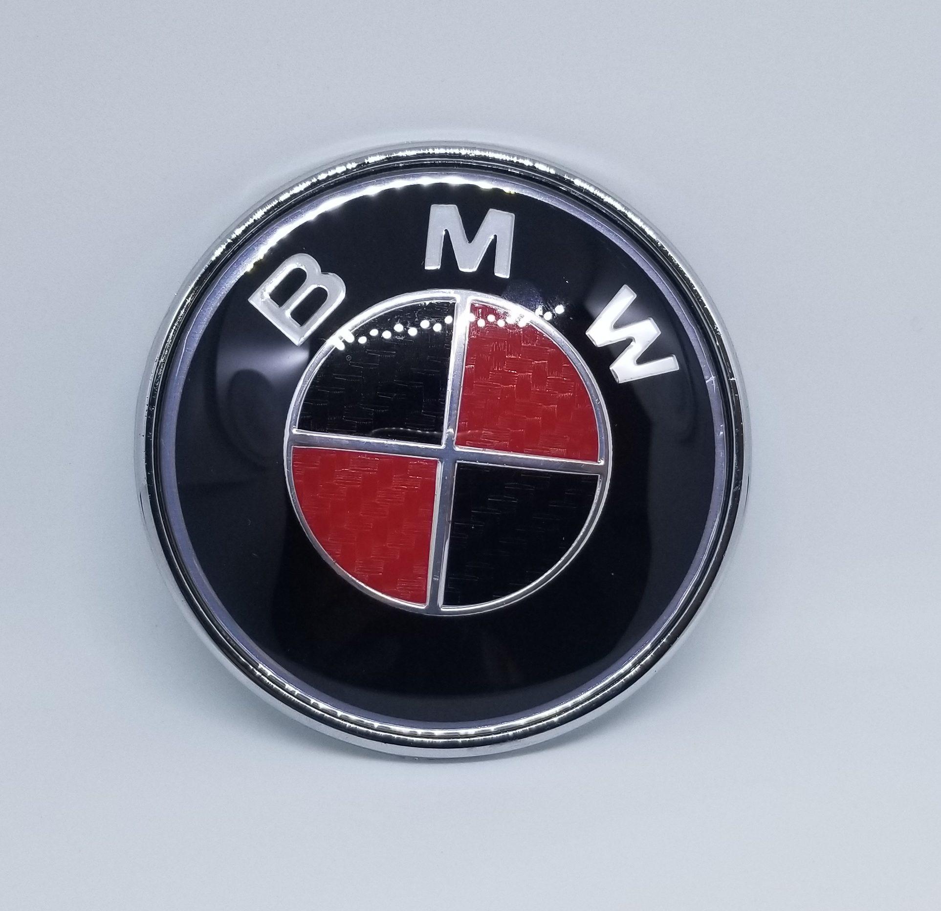 BMW Carbon Fiber Logo Emblem for Hood and Trunk.