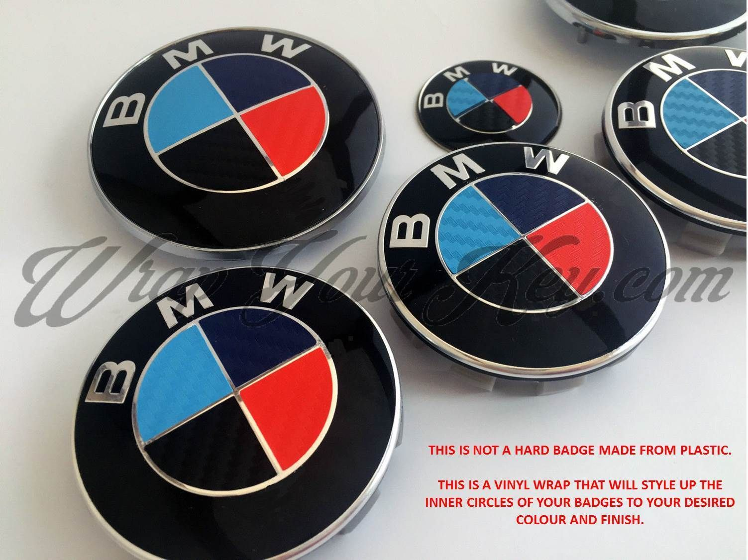 BLACK BLUE RED M SPORT BMW Badge Emblem Overlay HOOD TRUNK RIMS.