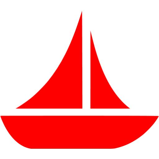 Red boat 10 icon.