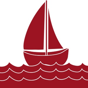Red boat clipart.