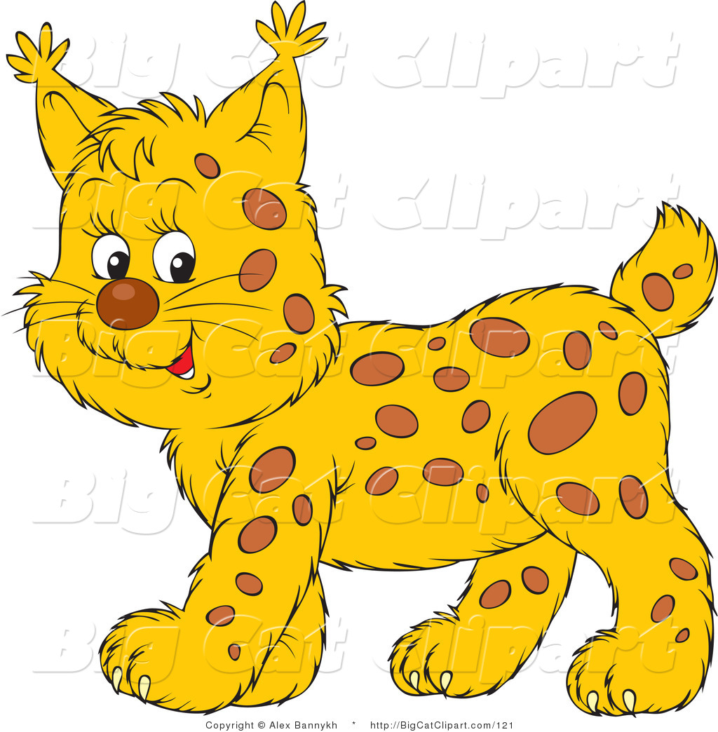 Red Bobcat Clipart Animal.