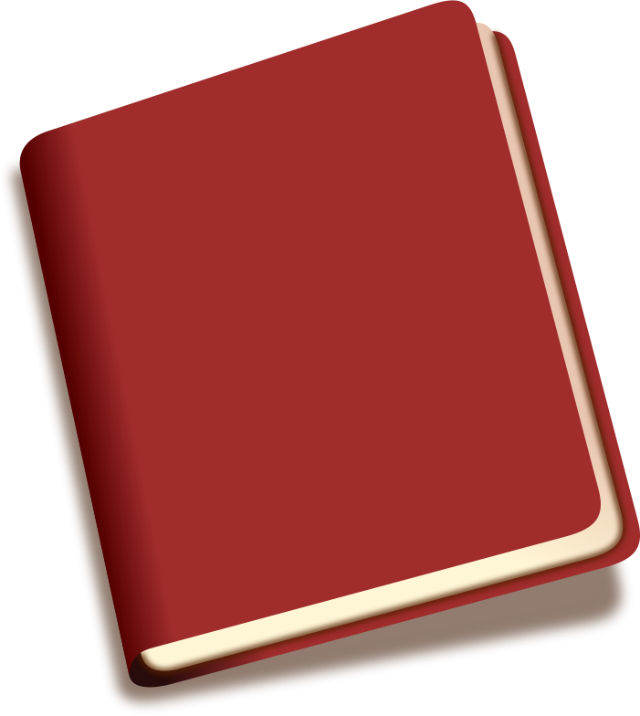 Free Simple Red Book Clip Art.