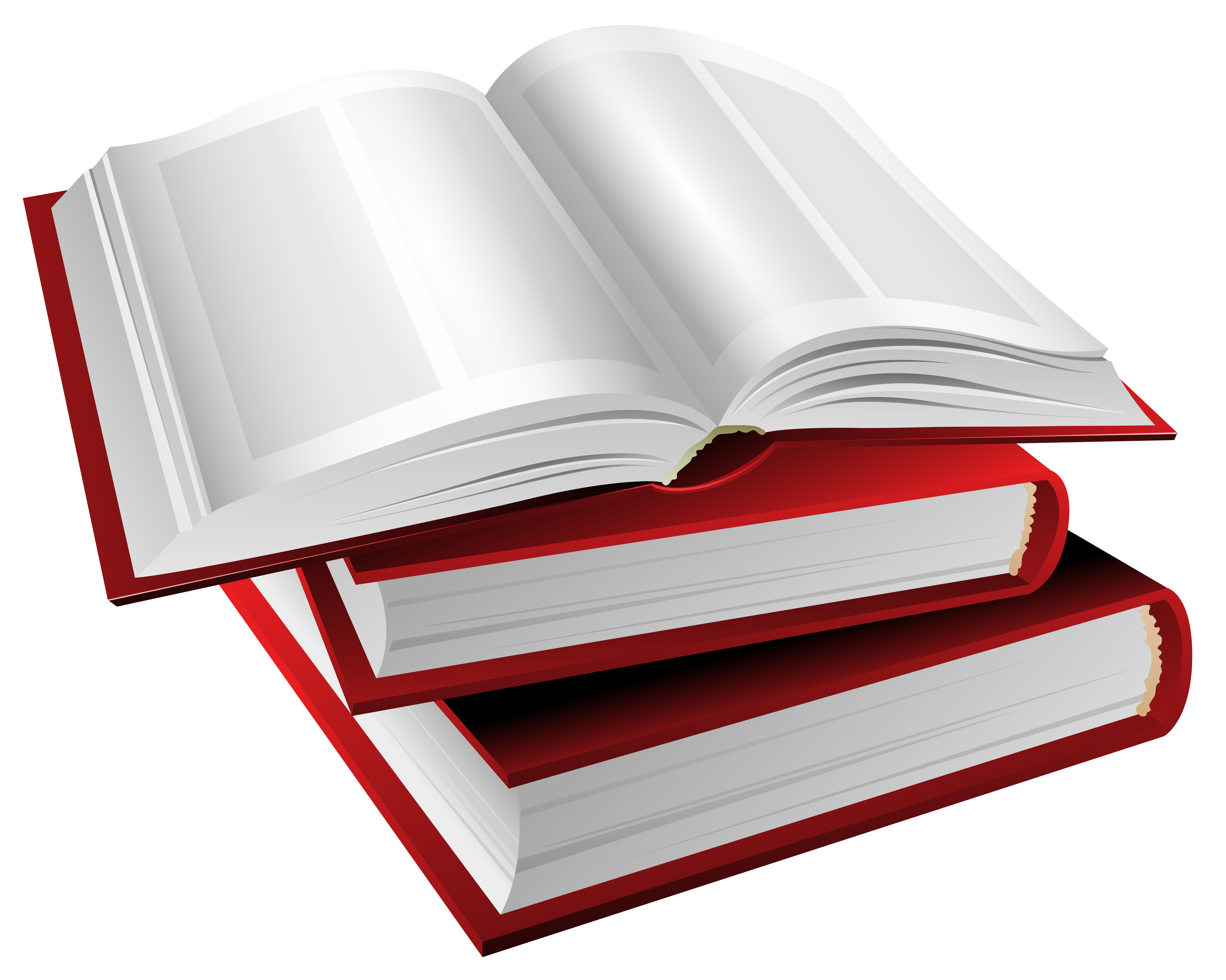Red Books PNG Clipart Image.