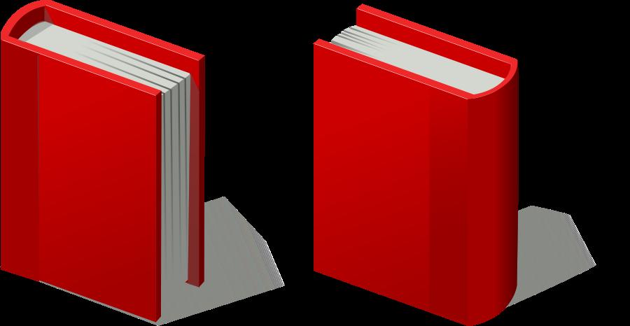 Red Book Clip Art.