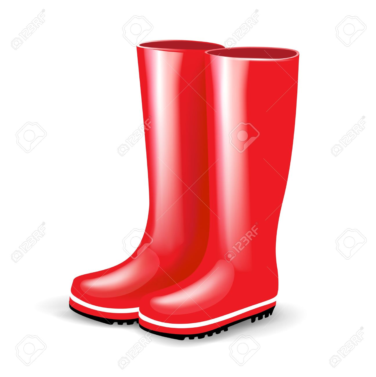 Red Rain Boots Clipart Red boots clipart - Cl...