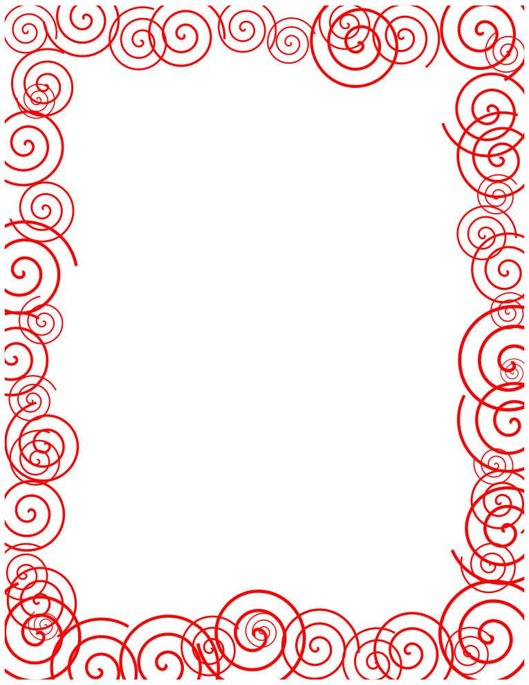 Clip art red borders.