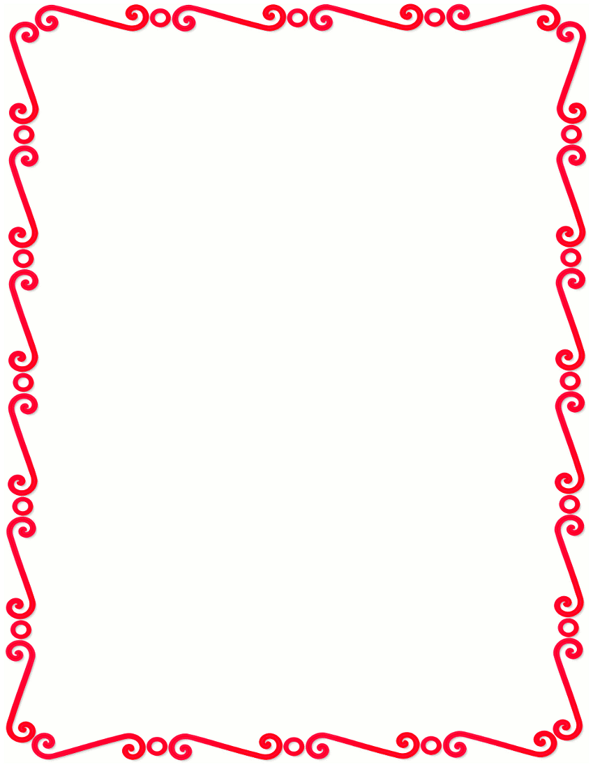 Red border clipart.