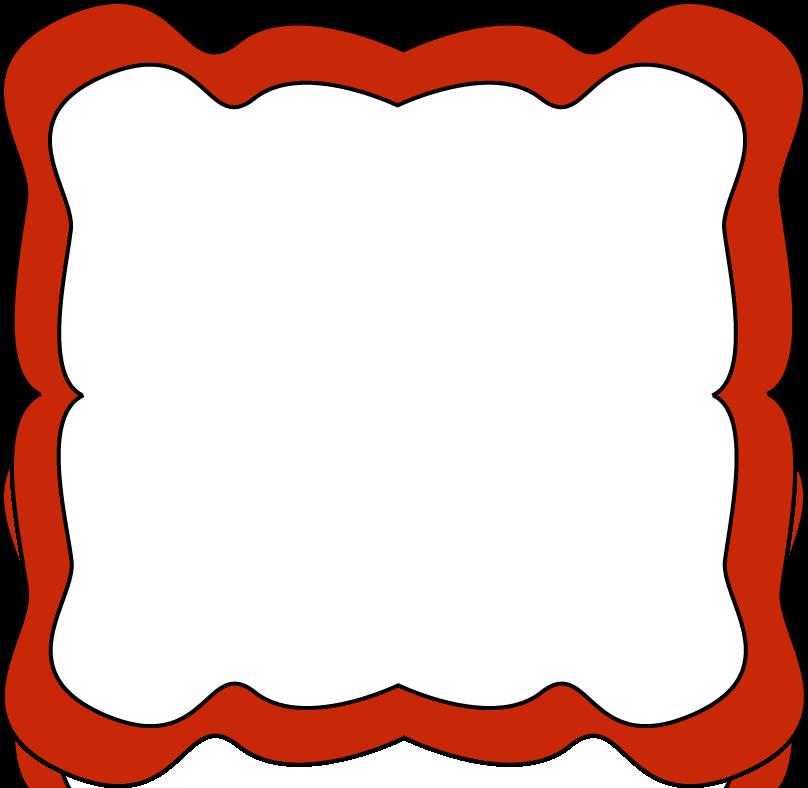 Red Border Clip Art.