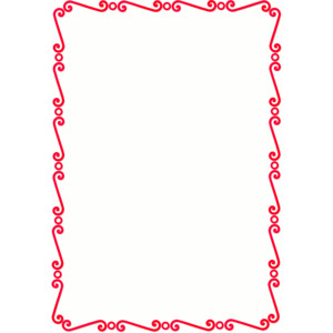 Red Border Free Clipart.