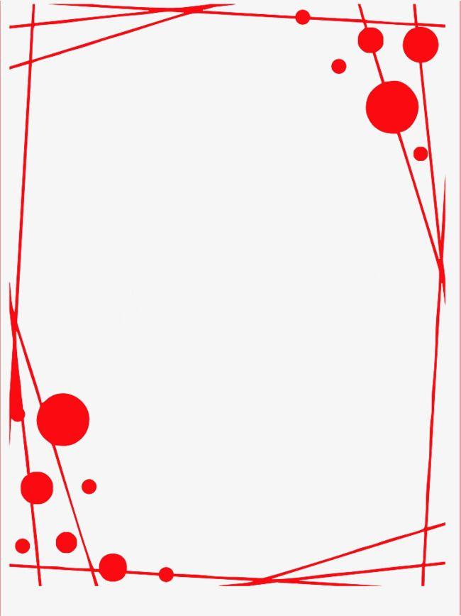 Exquisite Red Border, Red Border, Profile Border, Creative.