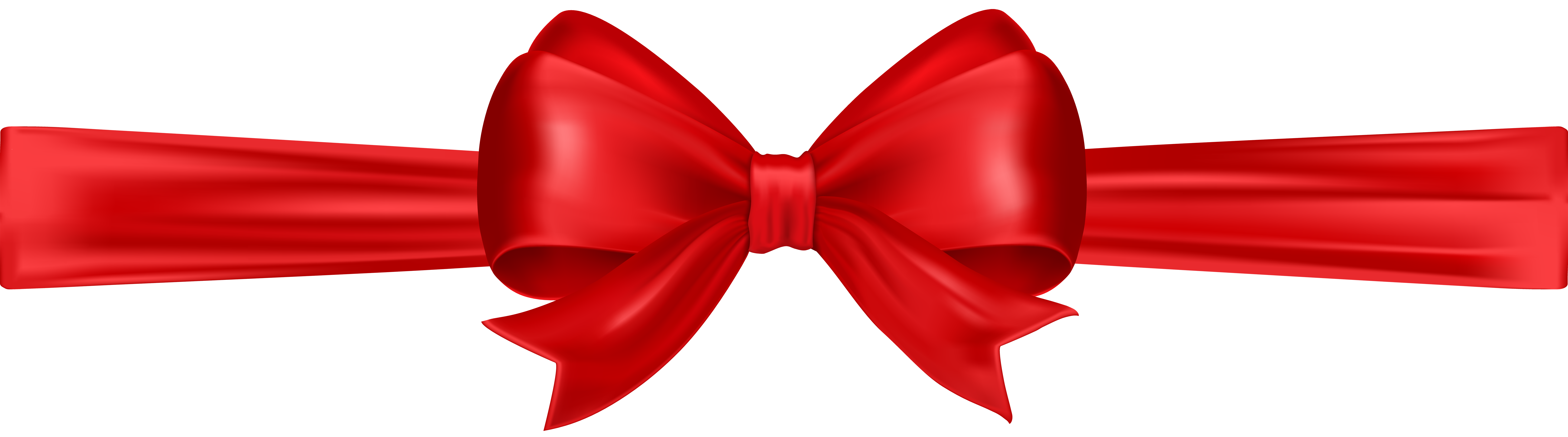 Red Bow Clip Art PNG Image.
