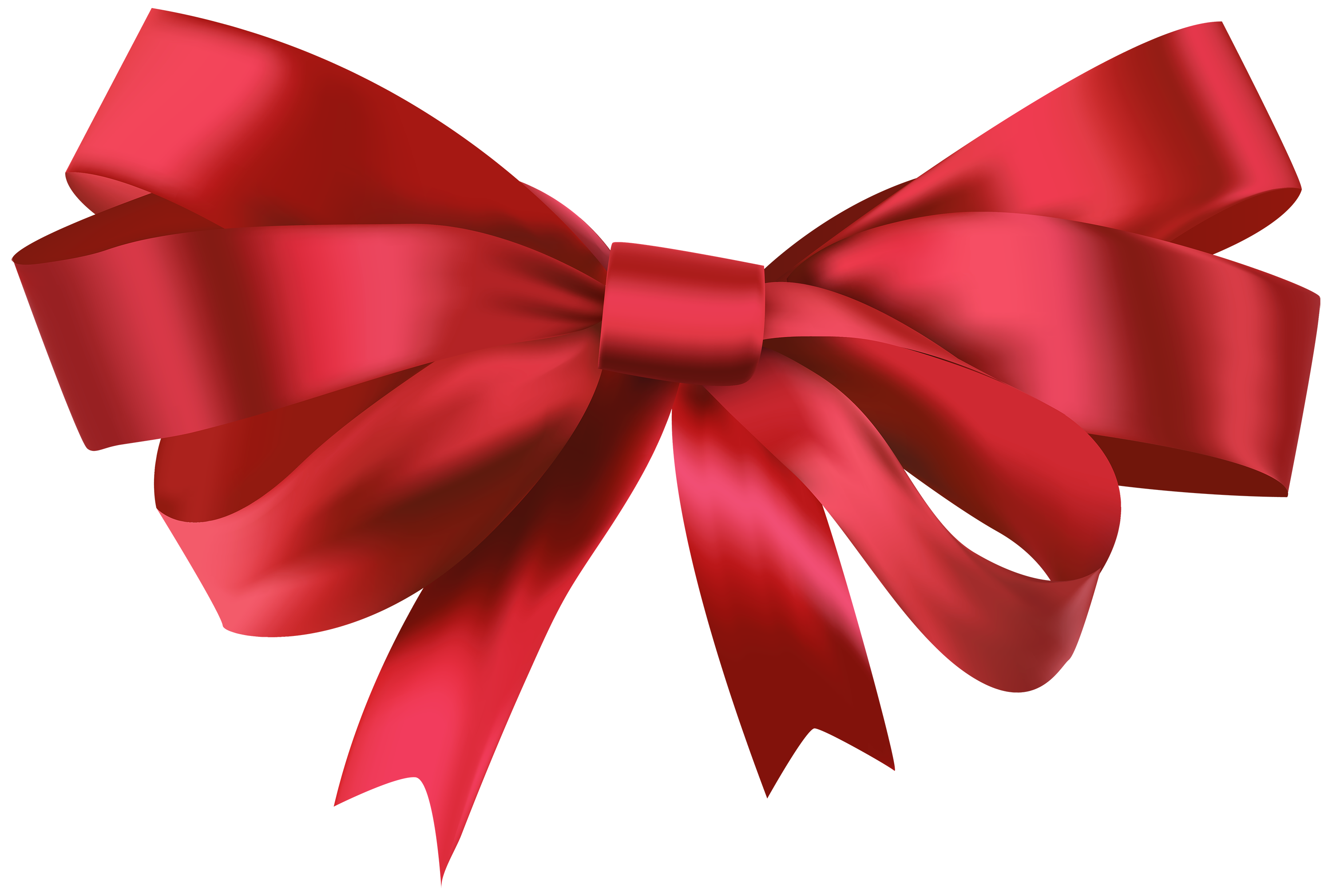 Red Bow PNG Clipart.