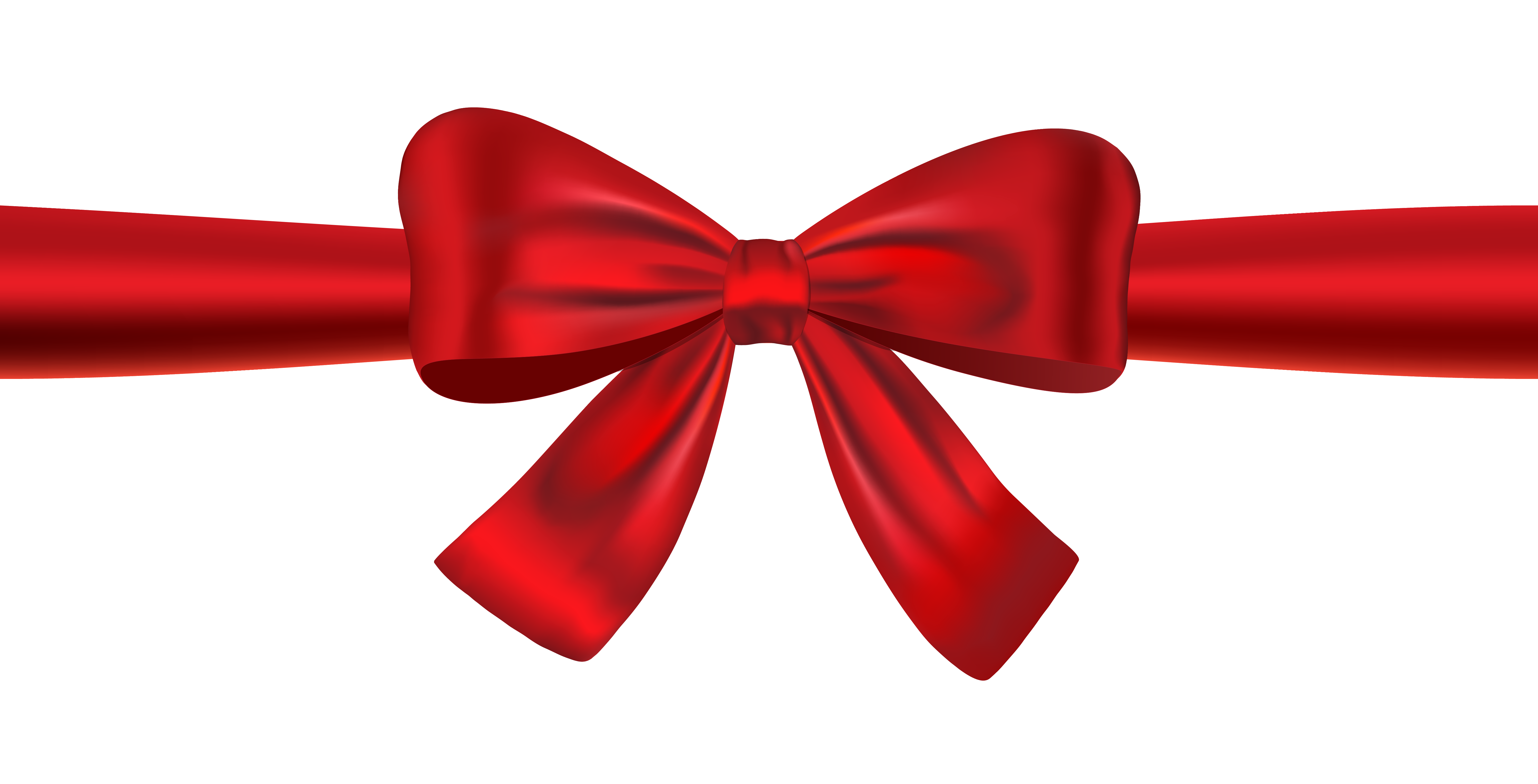 Red Ribbon Bow PNG Transparent Image.
