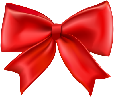 Red Bow PNG Transparent Clip Art Image.