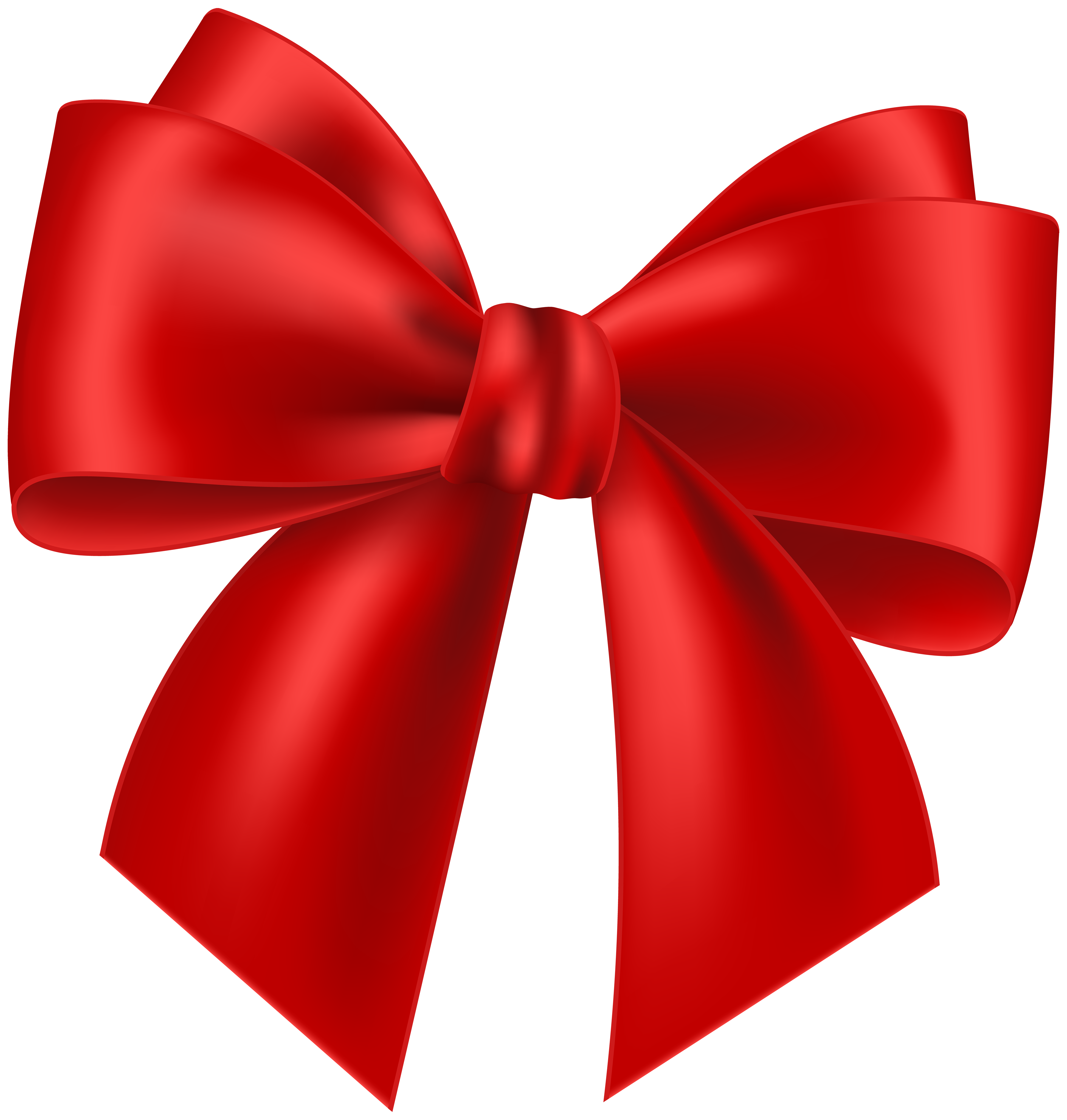 Red Bow Transparent Clip Art Image.