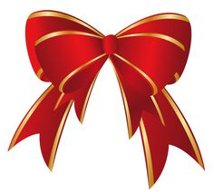 CHRISTMAS RED BOW CLIP ART.