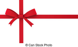 Red Gift Bow Clipart.