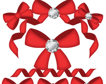 Red bow clip art.