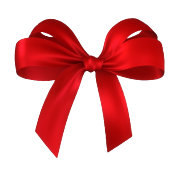 Red christmas present bows clipart.