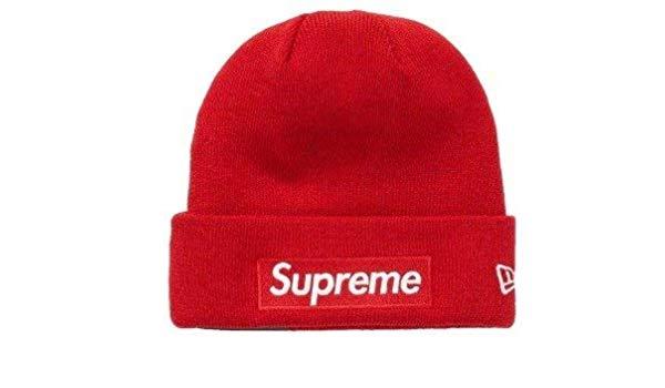 Amazon.com: SupremeNewYork Supreme Box Logo Beanie Red FW18.
