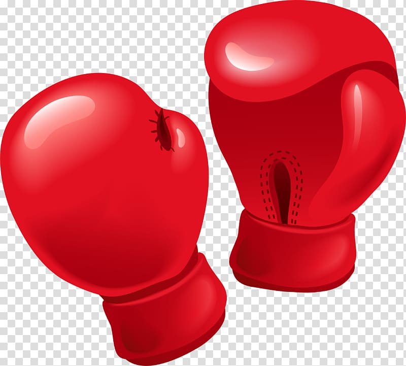 Boxing glove , Red boxing gloves transparent background PNG.