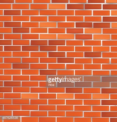 Red brick wall background. Clipart Image.