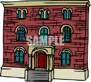 Brick school clipart.
