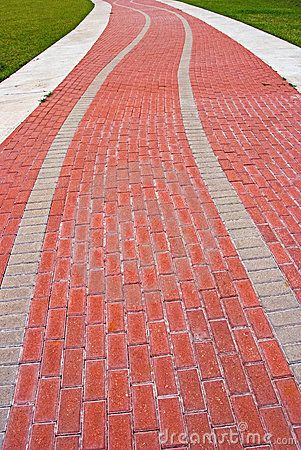 red brick road clipart.