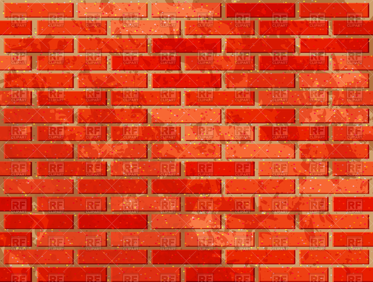 Red brick wall with noise textures Vector Image #115218.