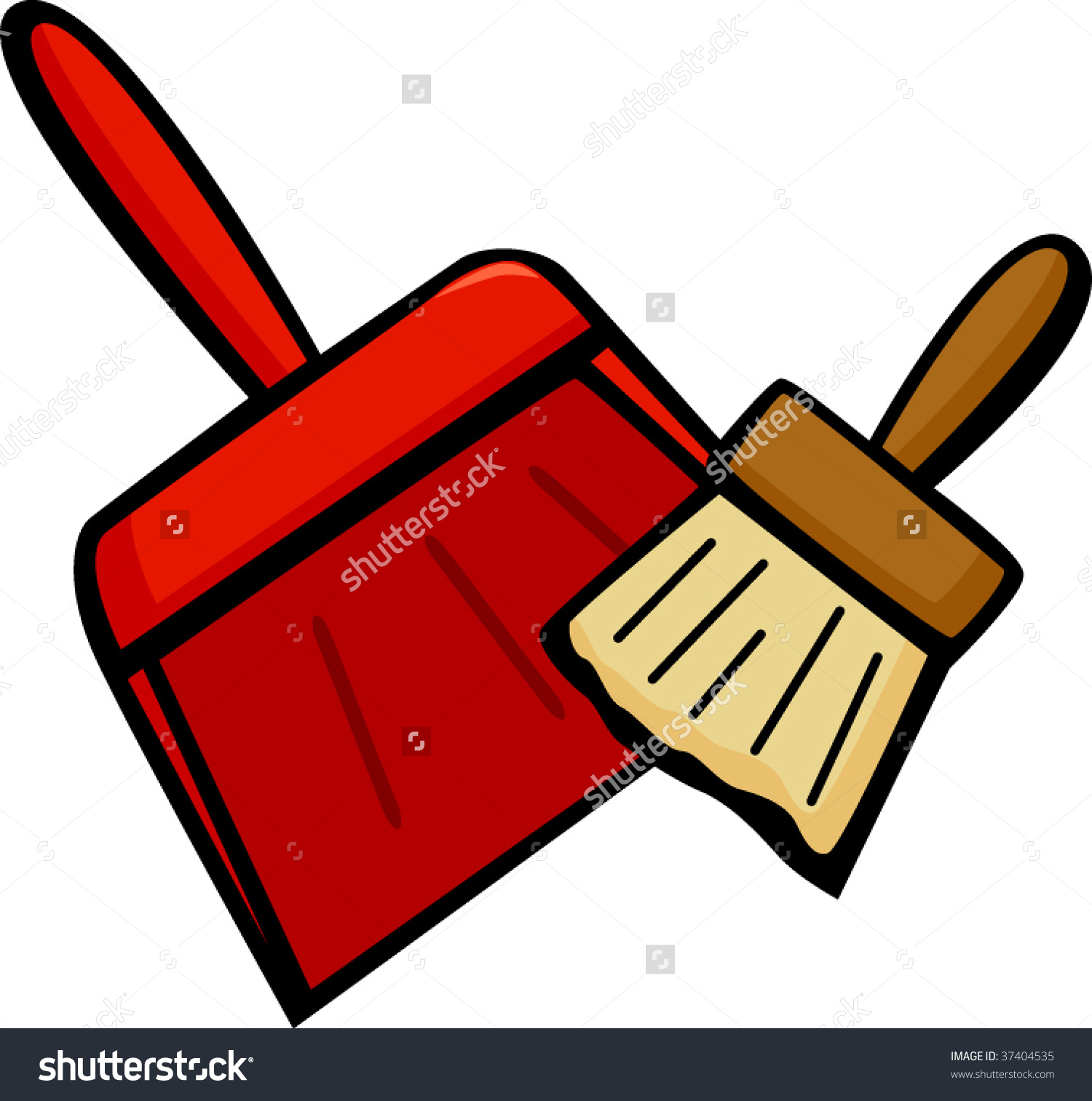 Dustpan and broom clipart.