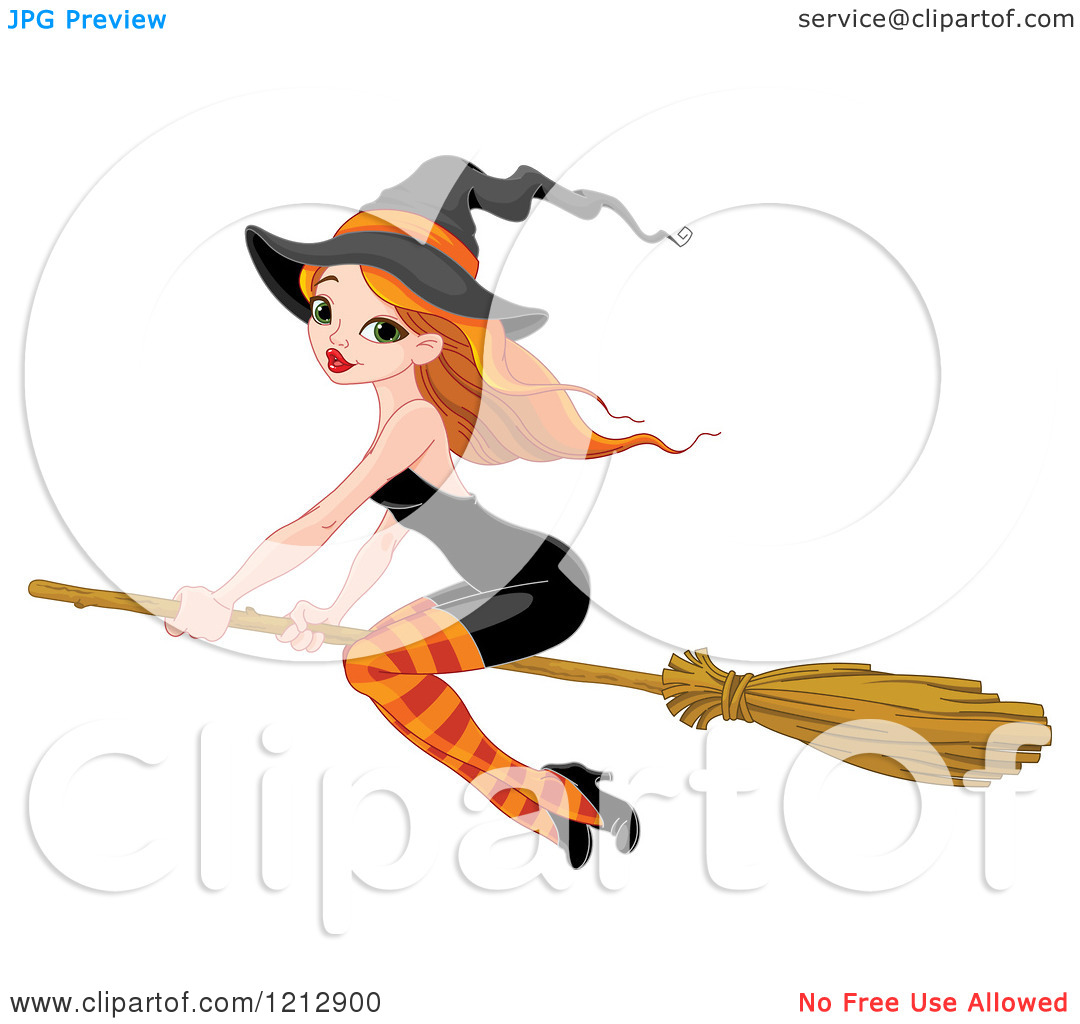 Sexy Witch Broom Clipart.