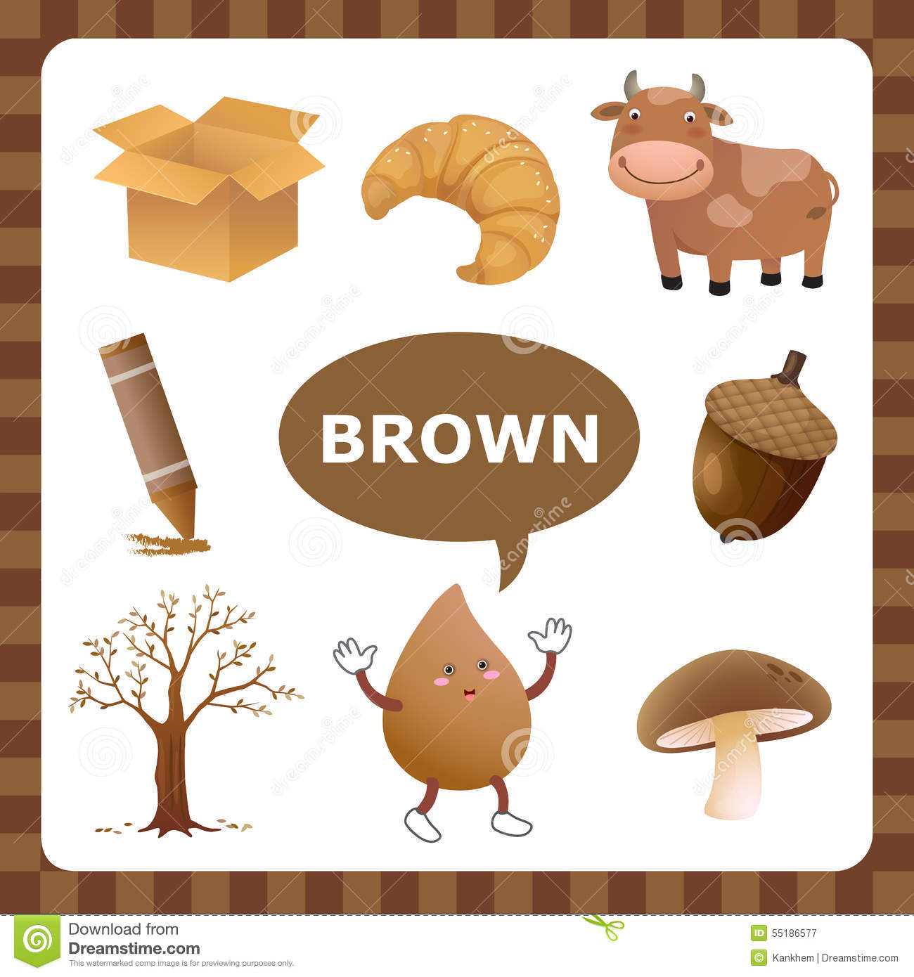Things That Are Brown Clipart.