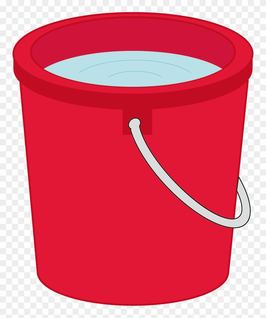 Bucket Clipart Red Bucket.